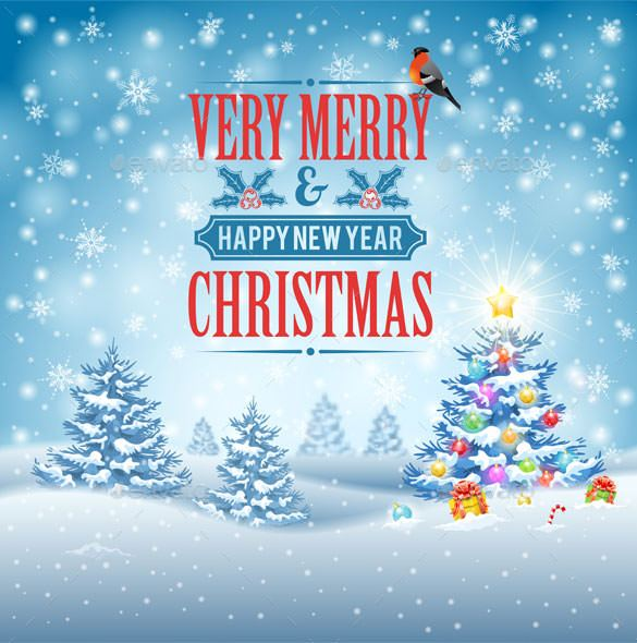 Christmas Background Vector Free