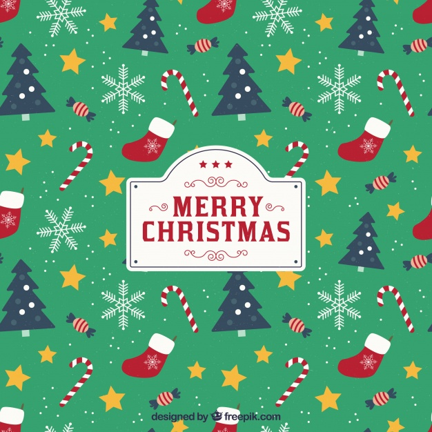 626x626 Christmas Background With Pattern Style Vector Free Download