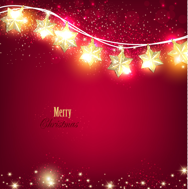 800x805 Flash Stars Christmas Red Background Vector Free Download Free