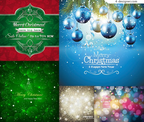 600x507 4 Designer Lob Pine Branches And Christmas Background Vector