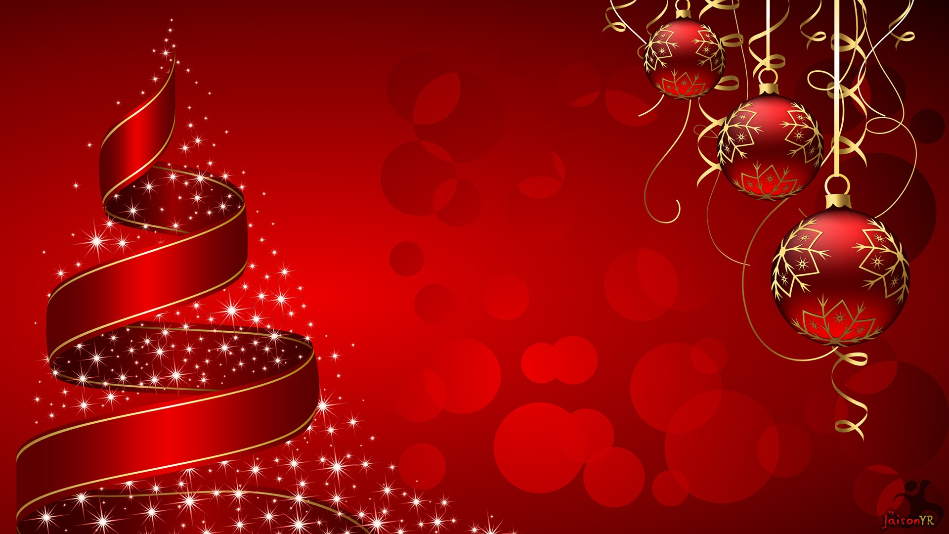 1920x1080 Red Christmas Background Download Free Hd Wallpapers For