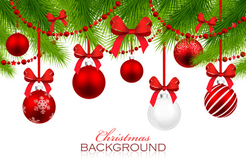 500x321 Red With White Christmas Decorations Background Vector Png Images