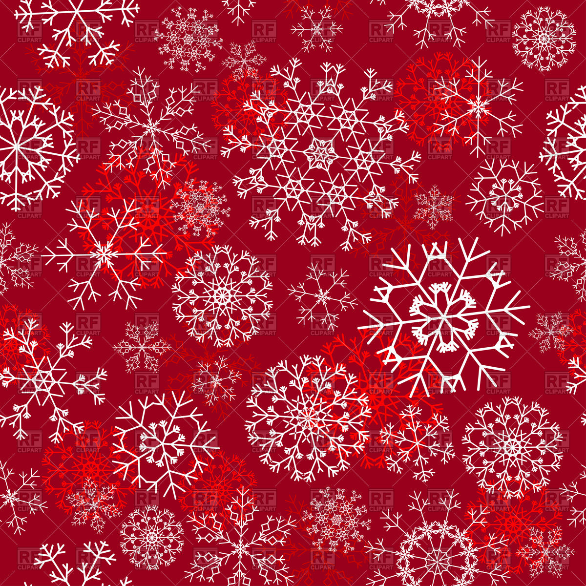 1200x1200 Seamless Snowflakes Christmas Background Vector Image Vector