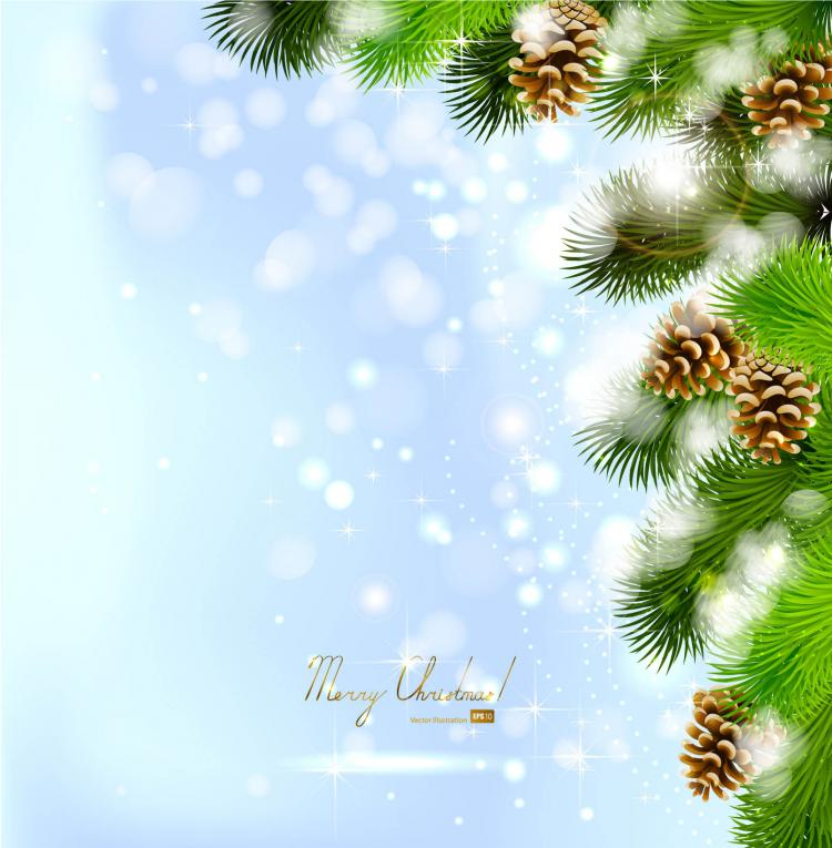 750x765 Beautiful Christmas Background 02 Vector Free Vector 4vector