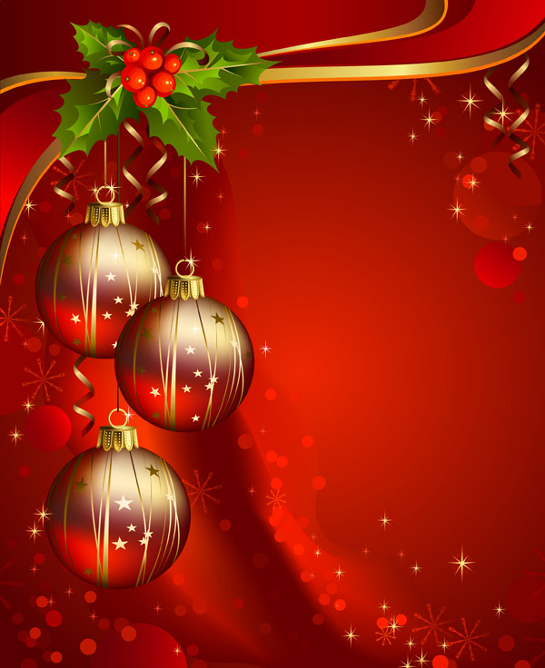 600x736 Beautiful Christmas Background Vector Free Vector 4vector