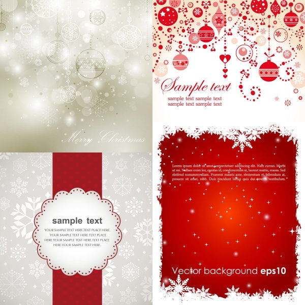 600x600 Beautiful Christmas Background Vector Free Vector In Encapsulated