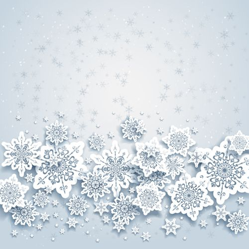 500x500 Beautiful Snowflakes Christmas Backgrounds Vector 02
