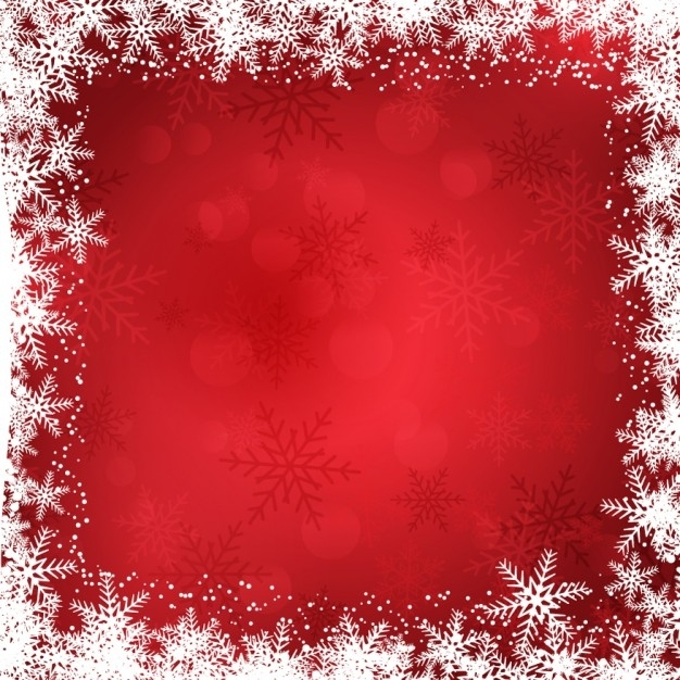 626x626 Christmas Background With Snowflakes Border Vector Free Download