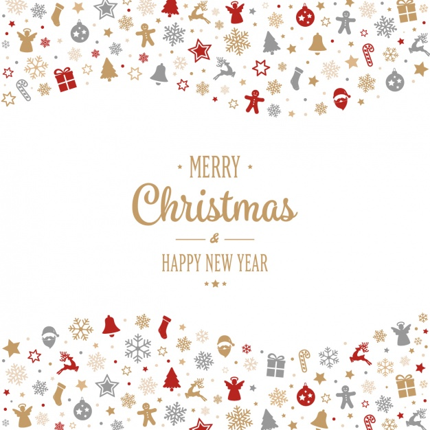 626x626 Christmas Background Design Vector Free Download