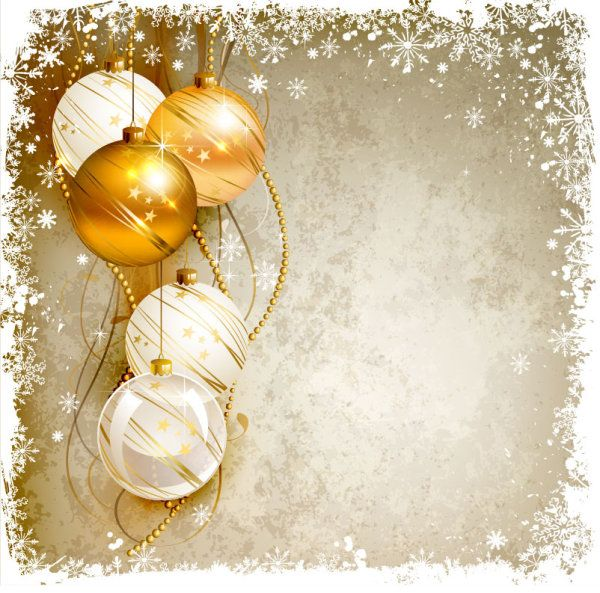 600x593 Free Download Shiny Ball With Christmas Background Vector Graphics