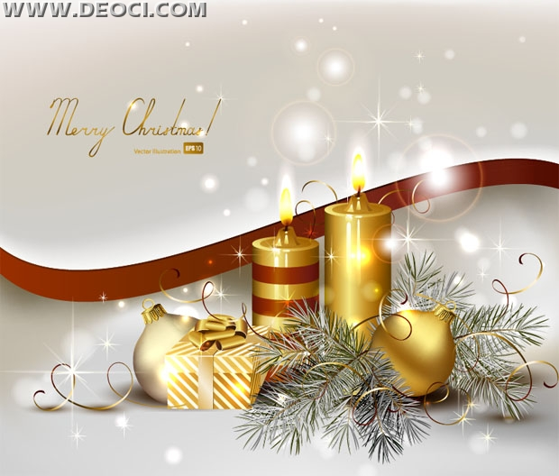 620x528 Gold And Silver Background With Christmas Elements Vector Design