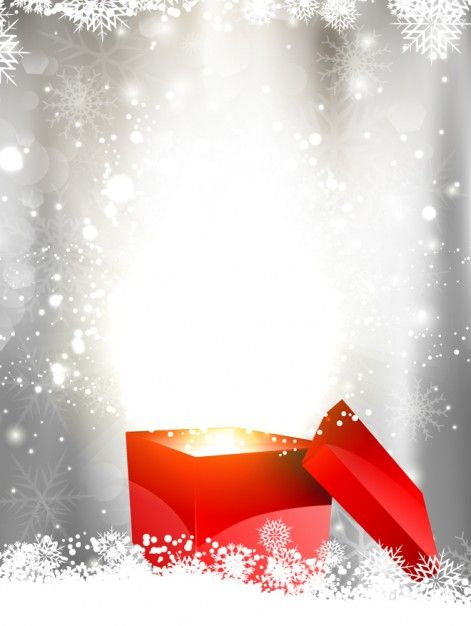 471x626 Shiny Christmas Background With Gift Box Vector Free Download