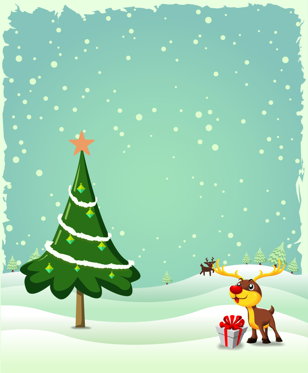 1024x1240 Vector Cartoon Hand Drawn Christmas Background Vector Free