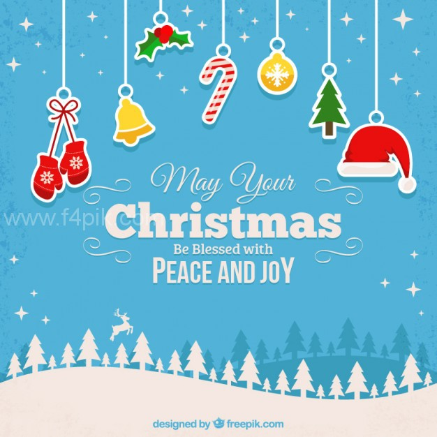 626x626 Vector ] Blessed Christmas Background Free Download