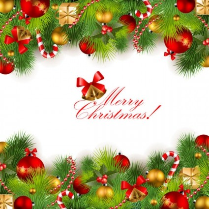425x425 Beautiful Christmas Background 01 Vector Vector Free Vector