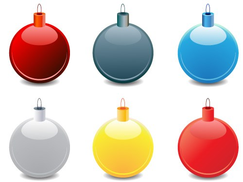 500x375 Christmas Balls Vector Graphic