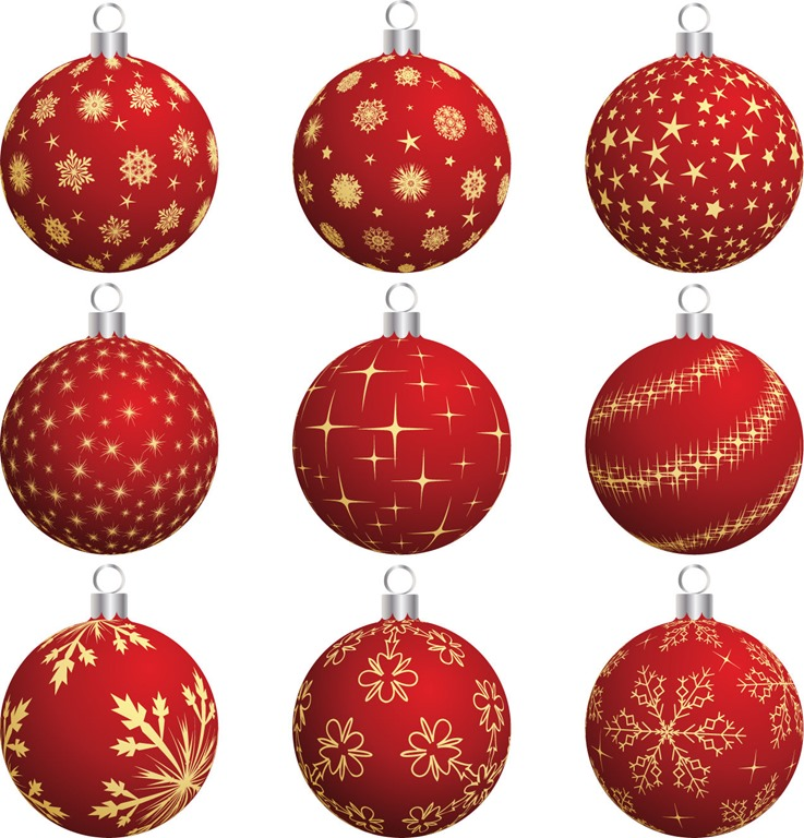 737x768 Christmas Balls Vector Set Free Vector Graphics All Free Web