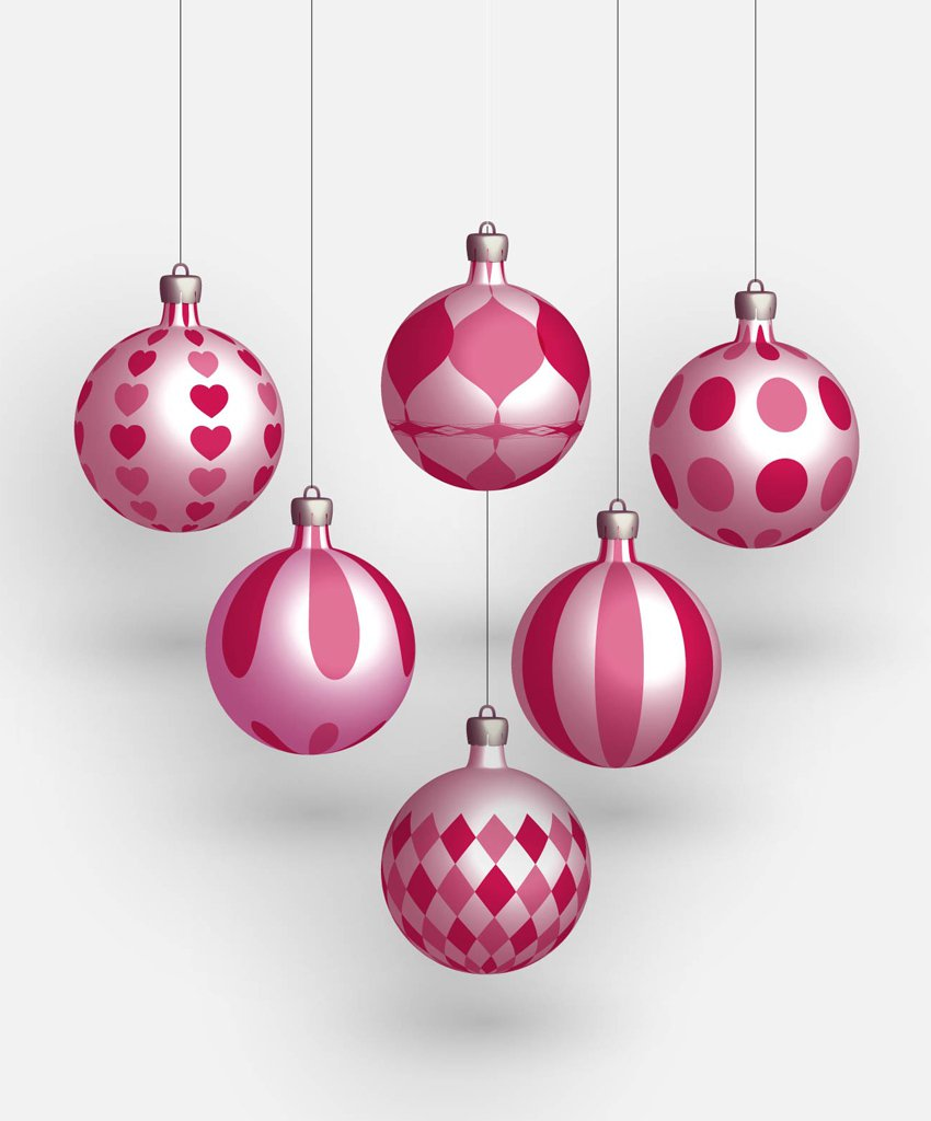 850x1024 Christmas Balls Vectors Vector Art Amp Graphics