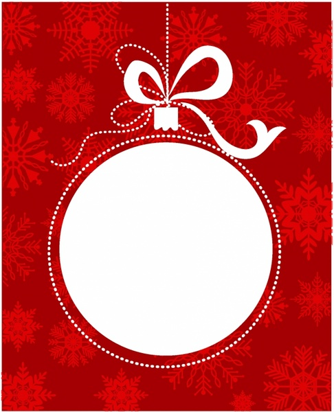 486x600 Christmas Ball Frame Free Vector In Adobe Illustrator Ai ( .ai