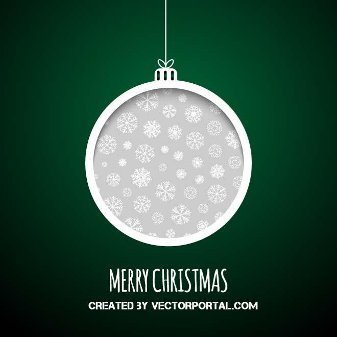 660x660 Christmas Ball Vector By Vectorportal