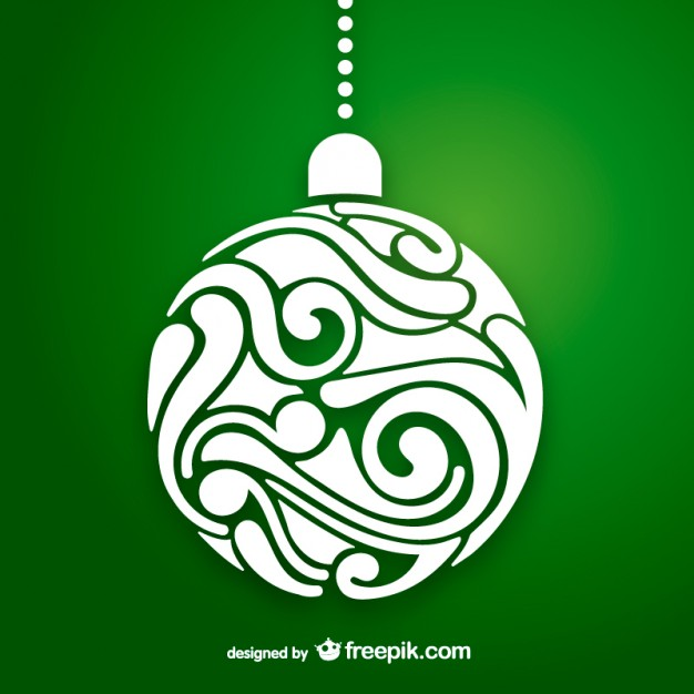 626x626 Artistic Christmas Ball Vector Vector Free Download