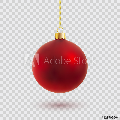 500x500 Red Christmas Ball Vector Illustration