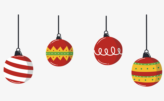 650x400 Beautiful Colorful Christmas Ball, Vector Png, Christmas