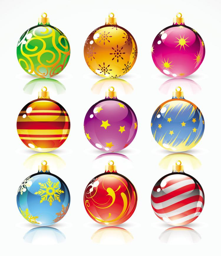 750x868 Beautiful Christmas Ball Vector Free Vector 4vector
