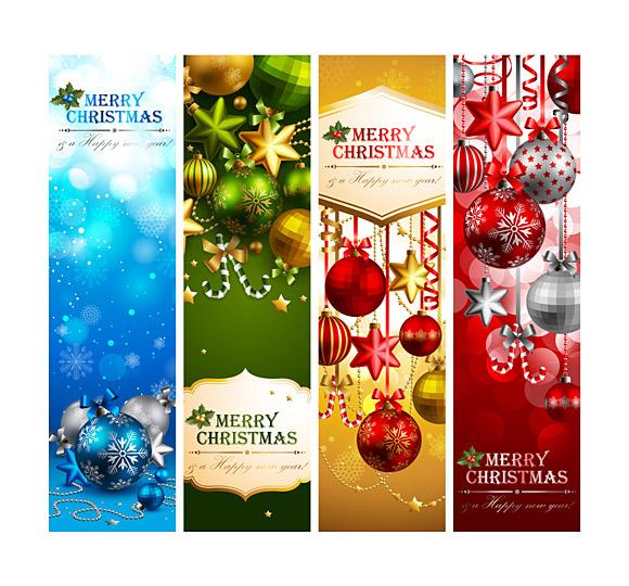 580x540 Christmas Banner Design Vector Material