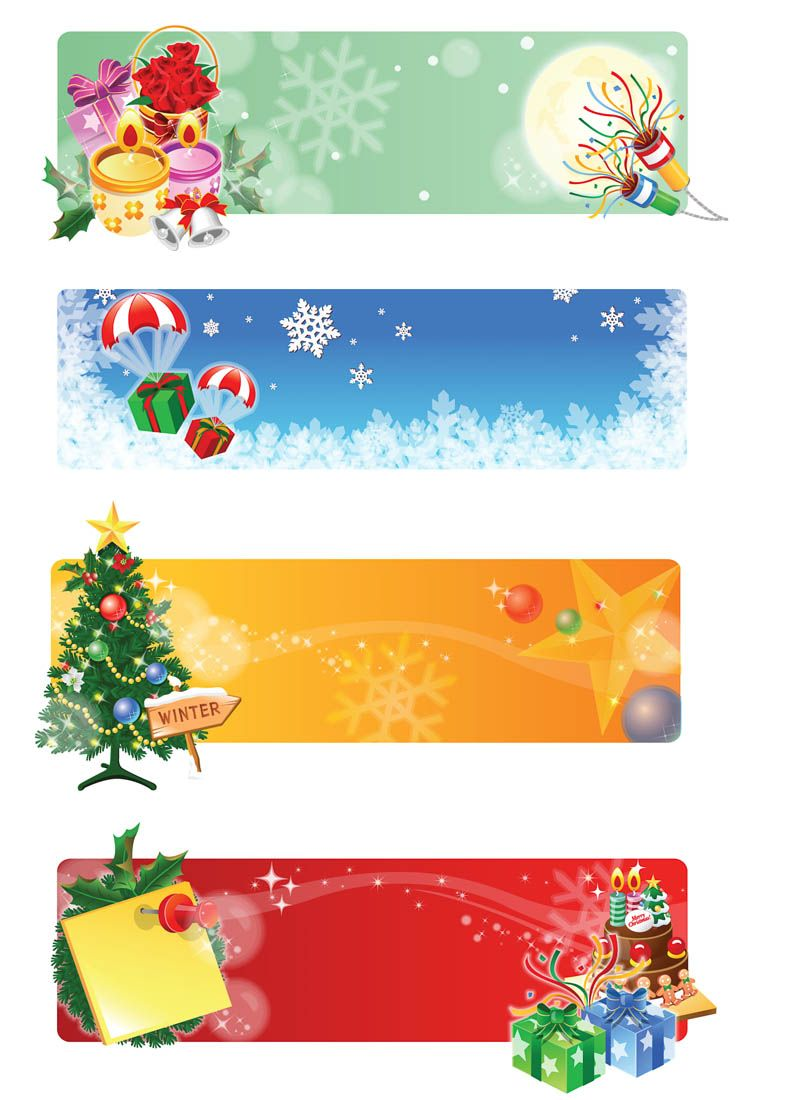 800x1100 Christmas Banner Designs Vector