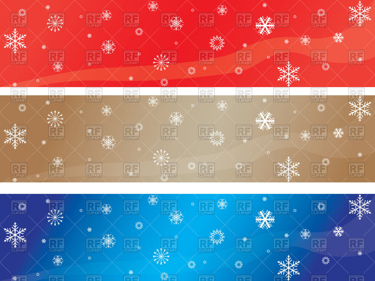 1200x900 Christmas Banners With Snowflakes Vector Image Vector Artwork Of