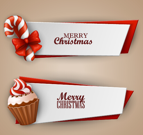 500x472 Christmas Sweet Banner Vector Material
