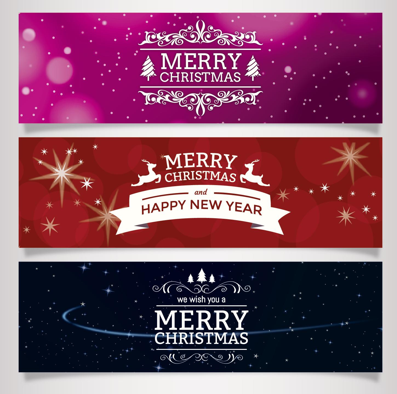 1449x1437 Excellent Vector Christmas Banners Creative Beacon