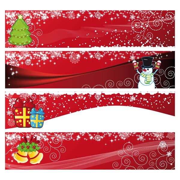 600x600 Festive Christmas Banner Vector Free Vector 4vector