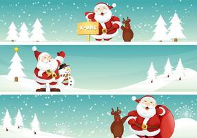 286x200 Free Vector Christmas Banner