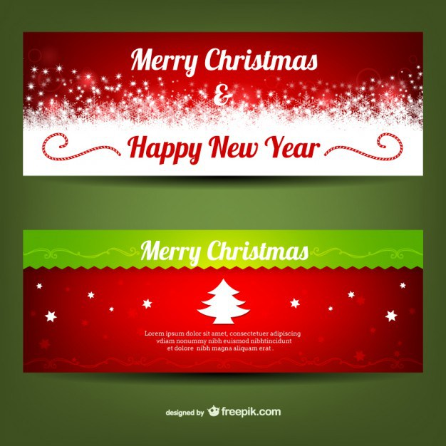 626x626 Merry Christmas Banner Templates Free Vector 123freevectors