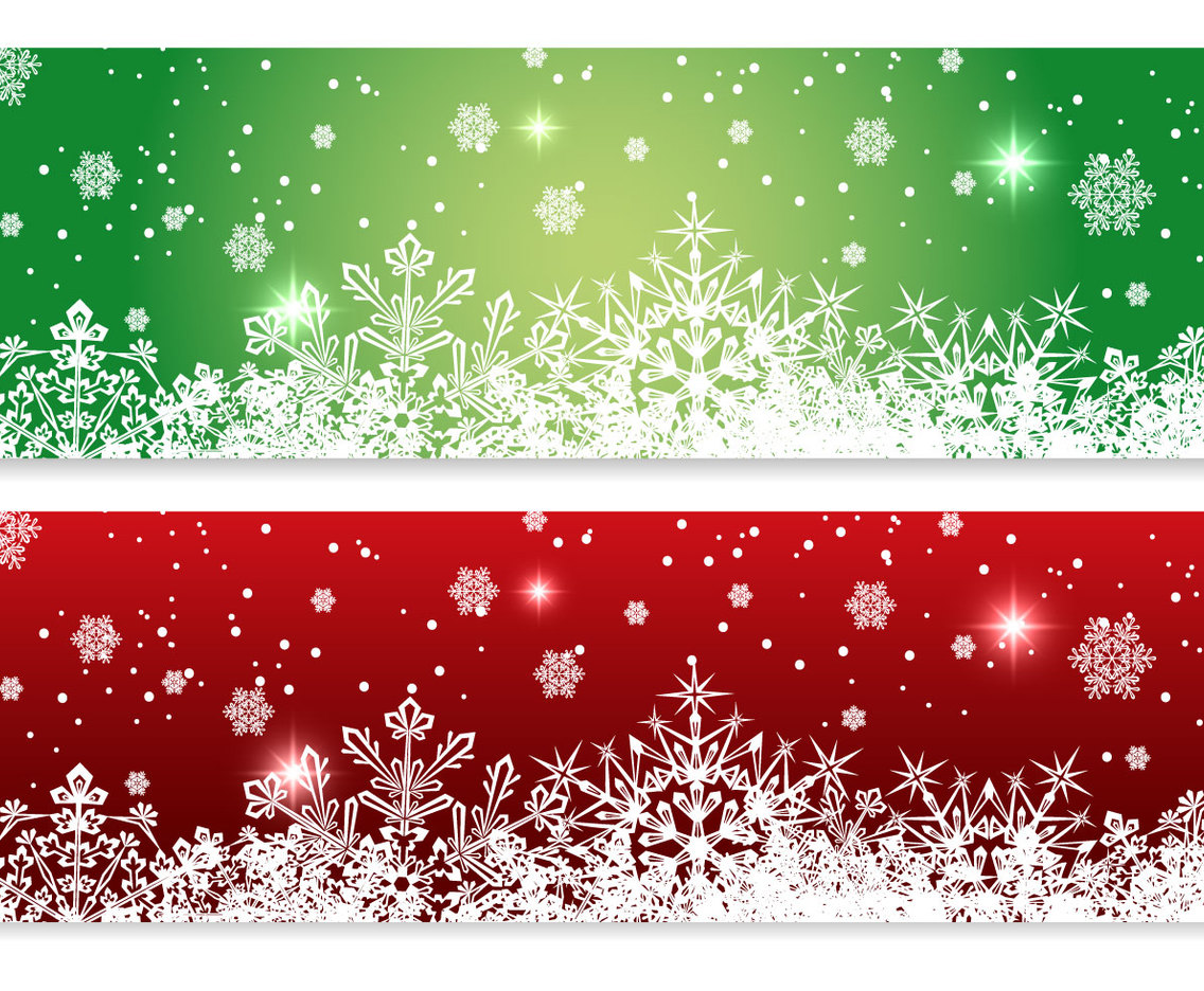 1136x936 Red And Green Christmas Banners Vector Art Amp Graphics