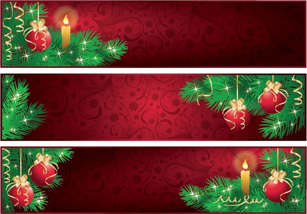 600x419 Red Christmas Banner Vector Free Vector In Encapsulated Postscript