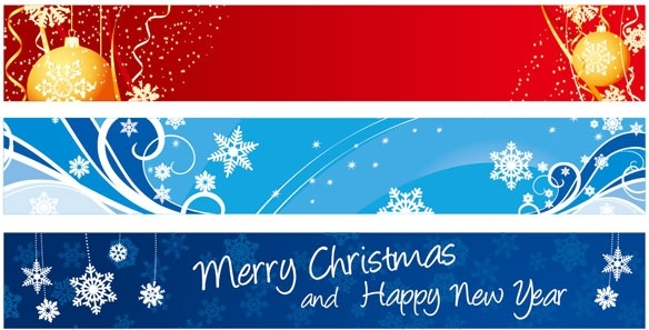 584x297 Beautiful Christmas Banner Banner Vector Free Vector In
