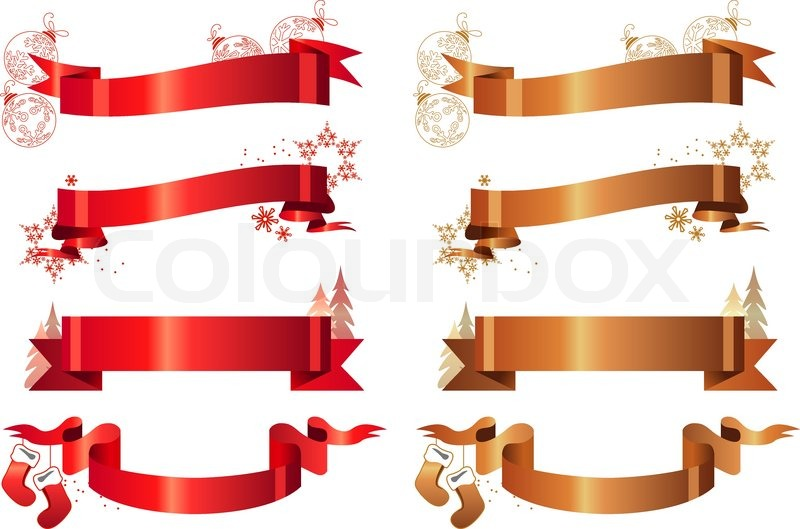 800x529 Set Of Different Christmas Banners Stock Vector Colourbox
