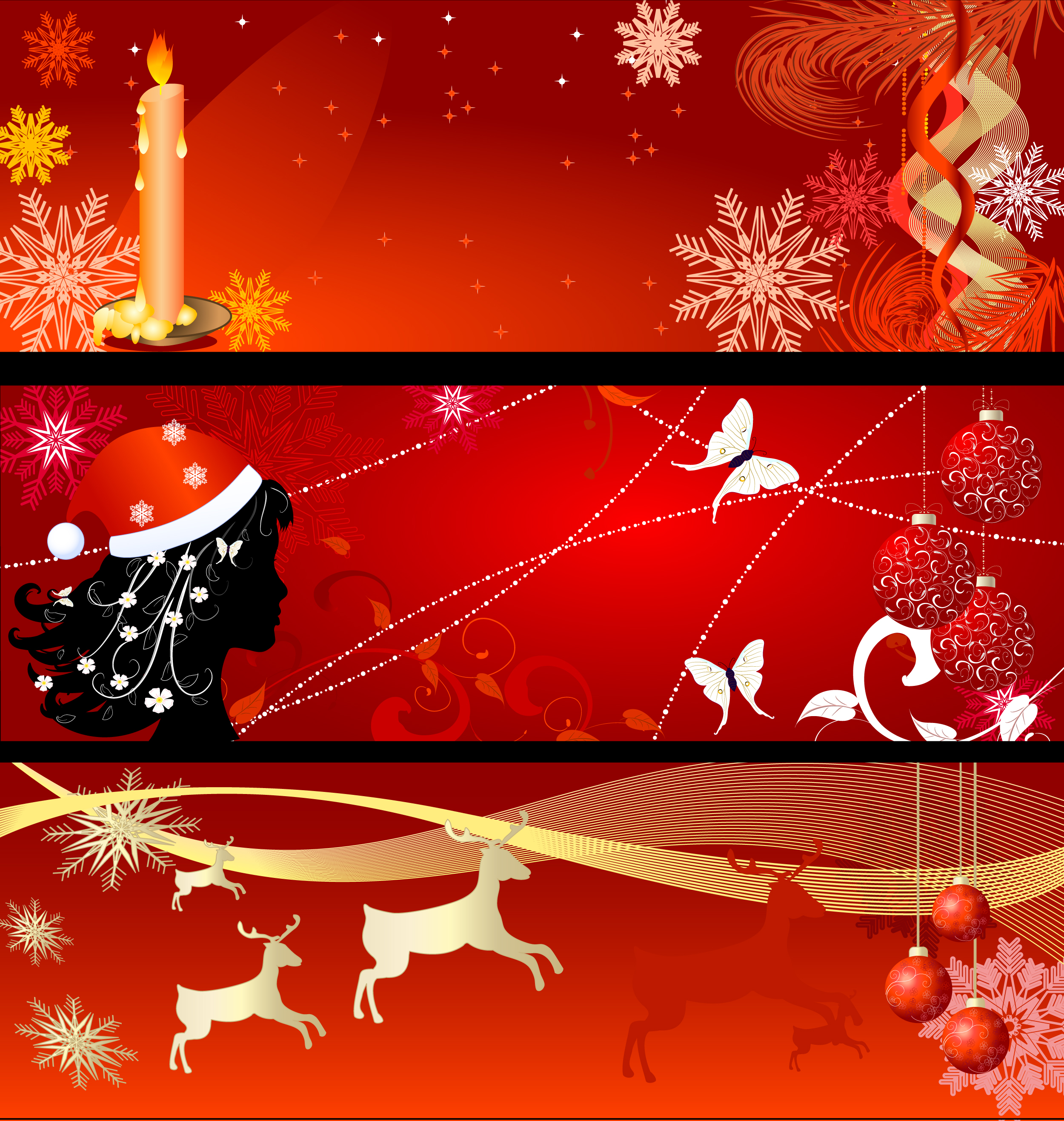 2500x2633 Vector Free Download Banner For Christmas Fun For Christmas