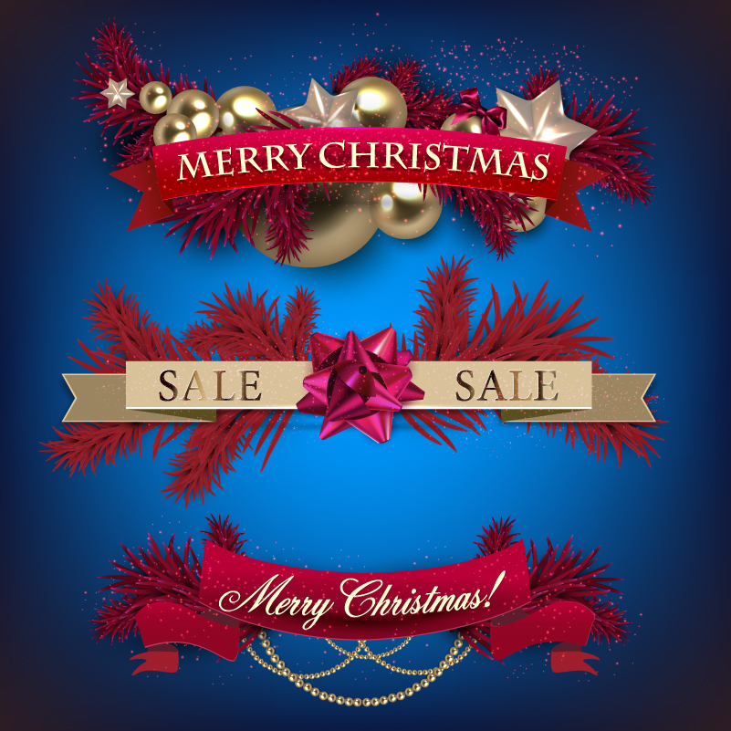 801x801 Christmas Banner Purple Blue Background Vector Free Vector