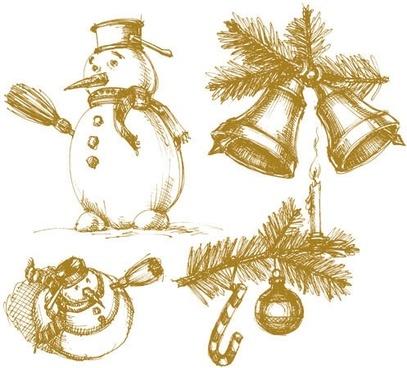 407x368 Christmas Bells Vector Art Free Vector Download (217,246 Free