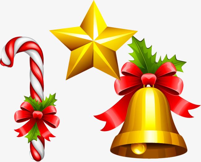 650x526 Star Christmas Bells Vector Material Png, Star Vector, Christmas