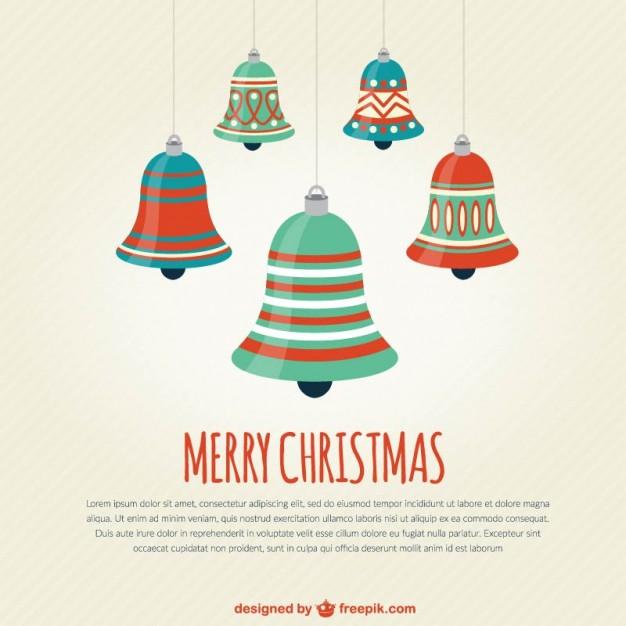 626x626 Vintage Christmas Bells Vector Free Download