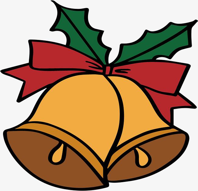 650x627 Cartoon Christmas Bells, Vector Png, Small Bell, Golden Bell Png