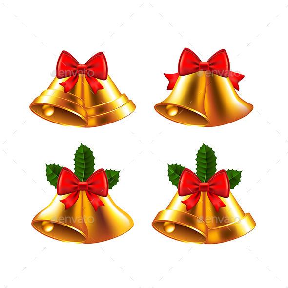 590x590 Christmas Bells Vector Set By Andegro4ka Graphicriver