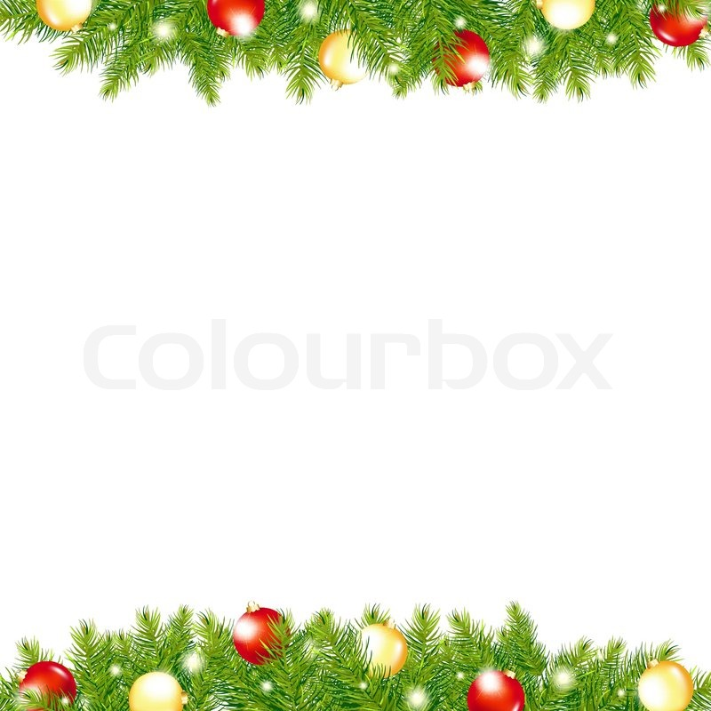 800x800 Xmas And Happy New Year Border, Vector Illustration Stock Vector