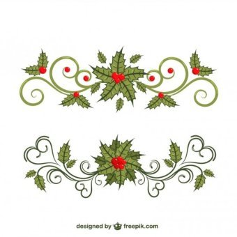Christmas Border Vector Free
