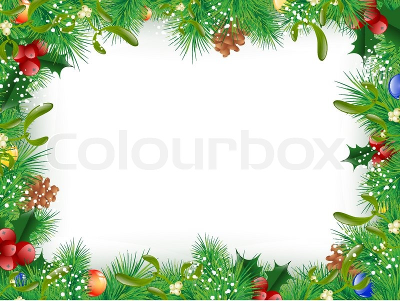 800x602 Christmas And New Year Fir Tree Decorative Frame, Copyspace